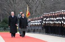 越南国家主席张晋创对德国进行国事访问