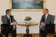 越南国家主席张晋创与德国总统约阿希姆·高克举行会谈