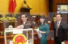 国会按程序批准任命政府3位副总理和18位部长及其他成员职务