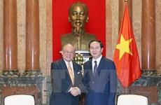 越南国家主席陈大光会见日越友好议员联盟特别顾问武部勤