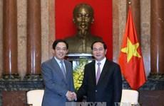 越南国家主席陈大光会见中国驻越大使洪小勇