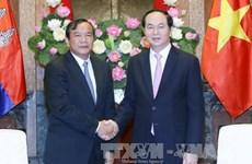 越南国家领导人会见外国客人(组图)