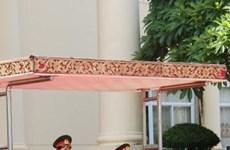 越南人民军总政治局主任梁强上将对老挝进行正式访问(组图)