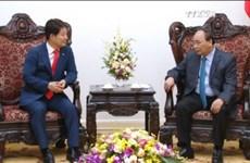越南政府总理阮春福会见韩国大邱市市长权泳臻