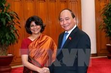 越南政府总理阮春福会见联合国驻越南协调员普拉蒂巴•梅塔