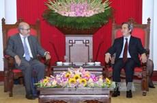 越共中央经济部部长阮文平会见国际货币基金组织代表团