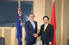 越南政府副总理兼外交部长范平明与新西兰外长默里·麦卡利举行会谈