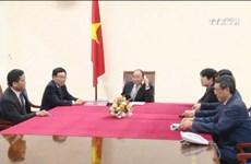 越南政府总理阮春福同美国当选总统唐纳德•特朗普通电话