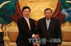 越南政府副总理兼外交部长范平明对老挝进行正式访问(组图)