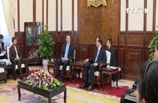越南国家主席陈大光会见捷克驻越大使马丁