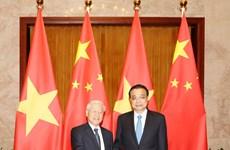 越共中央总书记阮富仲会见中国党和政府领导人(组图)