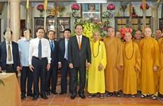 国家主席陈大光走访慰问越南佛教教会法主释普慧(组图)