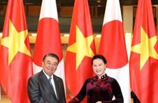 日本国会众议院议长大岛理森访问越南(组图)
