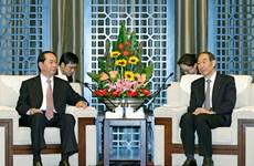 国家主席陈大光访问福建省的相关活动(组图)