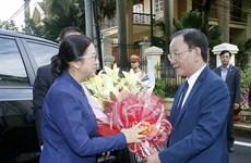 老挝国会主席对越南进行访问并出席越老建交55周年纪念活动(组图)