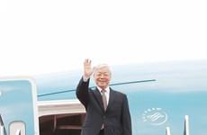 阮富仲总书记开始对印尼进行正式访问(组图)
