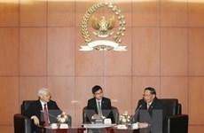 越共中央总书记阮富仲会见印尼人民协商会议领导
