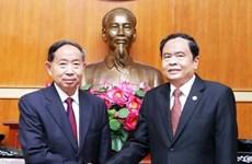 越南祖国阵线与中国政协加强合作关系