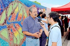 越南—智利友谊之情陶瓷壁画正式问世