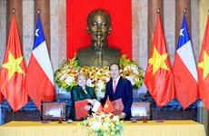 智利共和国总统开始对越南进行国事访问  (组图)