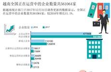 图表新闻:越南全国正在运营的企业数量共561064家