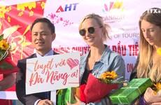 越南全国多地迎来大量国际游客冲年喜