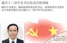 图表新闻:越共十二届中央书记处成员陈清敏简历