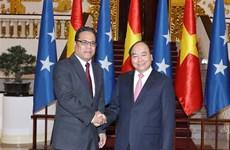 政府总理阮春福会见密克罗尼西亚联邦国会议长西米纳