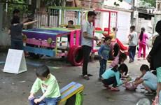 以可再生废弃物为主,营造儿童乐园