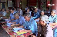 老年汉喃字培训班为弘扬传统文化做出贡献