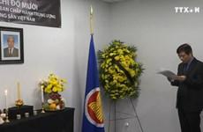 越南驻外代表机构为杜梅同志举行吊唁仪式