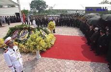 原越共中央总书记杜梅追悼会隆重举行