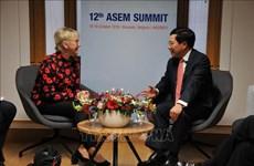 ASEM 12:越南政府副总理兼外长范平明进行多场双边会晤