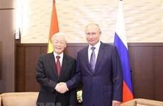 俄总统向当选越南国家主席的阮富仲总书记致贺电