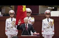 阮富仲同志宣誓就任2016-2021年任期国家主席