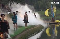 宝禄丝绸与林同土锦时装秀在大叻市举行
