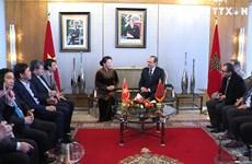 摩洛哥众议院议长与越南国会主席举行会谈