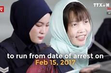 朝鲜公民被杀案:越南公民段氏香可能将于今年5月初获释放