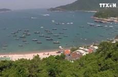 广南省会安市占婆岛对塑料袋说不