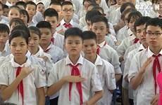 温馨感人的河内市特殊教育学校开学典礼