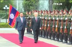 越共中央总书记阮富仲对老挝进行正式友好访问