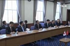 越共中央组织部部长范明政对日本进行工作访问