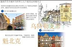图表新闻:越南芹苴市被评为世界上九个最美运河城市之一