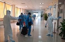 组图:从赤道几内亚回国的219名越南公民在中央热带疾病医院第二分院接受隔离