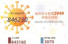 图表新闻:越南报告新增2949例确诊病例 新增死亡病例93例
