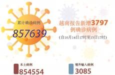 图表新闻:越南报告新增3797例确诊病例 累计死亡病例超2.1万例