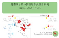 图表新闻:越南确诊第39例新冠肺炎确诊病例