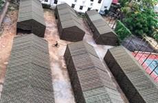 组图:河内市白梅医院里面的方舱医院建设完毕