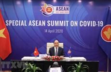 组图: 越南以2020年东盟主席国身份主持东盟抗击新冠肺炎疫情特别峰会视频会议