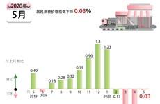 图表新闻:今年5月越南居民消费价格指数下降0.03%